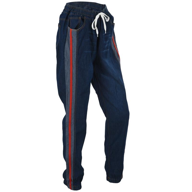 1X-Frauen-Retro-Laessig-Jogging-Hosen-Kordelzug-Elastische-Taille-Jeans-Dame-O9W1 Indexbild 4