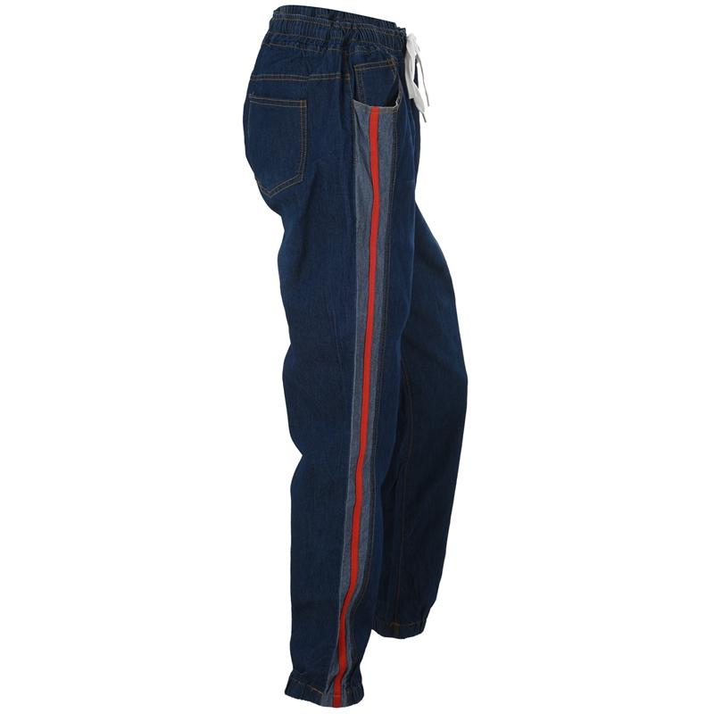 1X-Frauen-Retro-Laessig-Jogging-Hosen-Kordelzug-Elastische-Taille-Jeans-Dame-O9W1 Indexbild 5