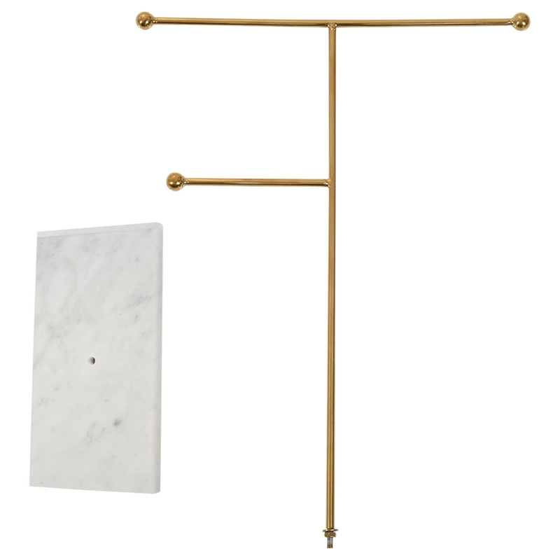 Indexbild 17 - Nordic Metall Golden Lagerregal mit Marmorsockel Chic Ins Moderner Schmuck  H3H7