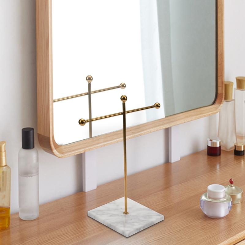 Indexbild 3 - Nordic Metall Golden Lagerregal mit Marmorsockel Chic Ins Moderner Schmuck  H3H7