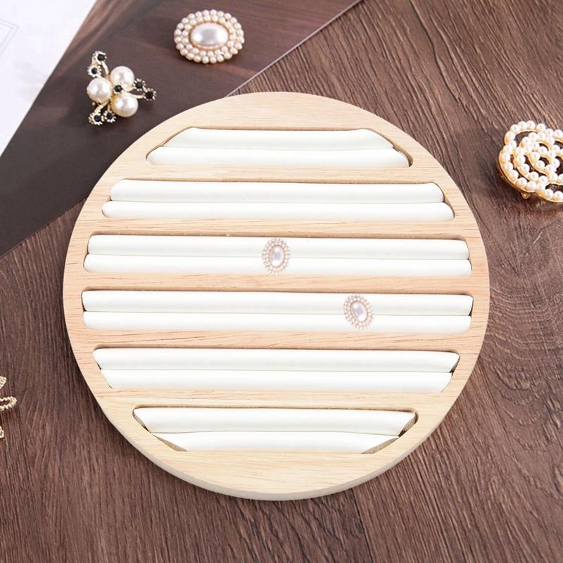 Indexbild 11 - 1 StüCk Ringe Display Tray Holz Runde Ring Halter Zeigt Platte Schmuck Vera F1W2