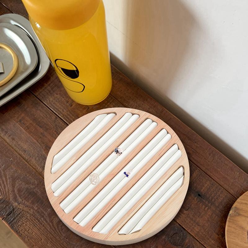 Indexbild 12 - 1 StüCk Ringe Display Tray Holz Runde Ring Halter Zeigt Platte Schmuck Vera F1W2