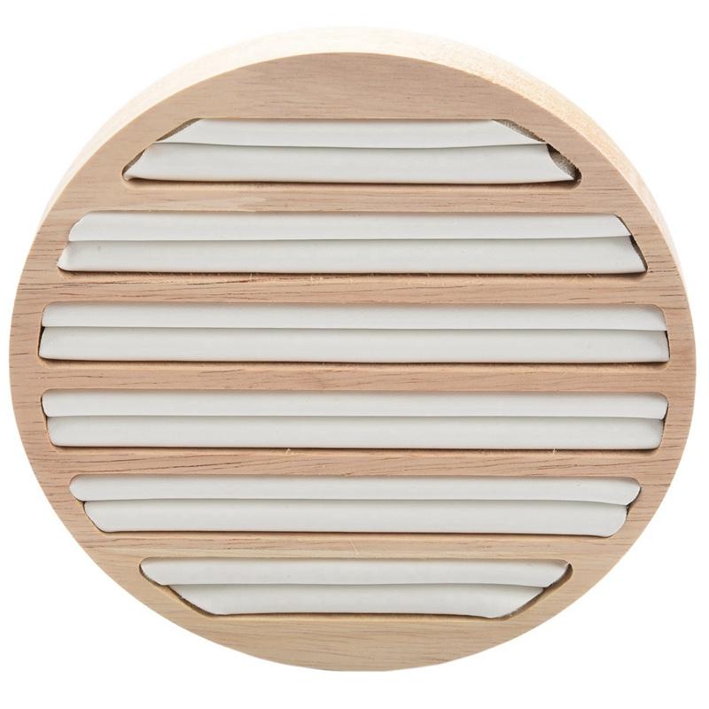 Indexbild 16 - 1 StüCk Ringe Display Tray Holz Runde Ring Halter Zeigt Platte Schmuck Vera F1W2