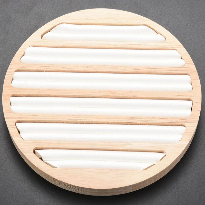 Indexbild 17 - 1 StüCk Ringe Display Tray Holz Runde Ring Halter Zeigt Platte Schmuck Vera F1W2