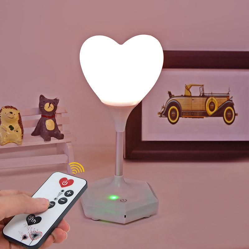 USB-LED-Gradation-Coeur-Silicone-Veilleuse-Enfants-Chambre-Maison-Moderne-E-V2Q7 miniature 12