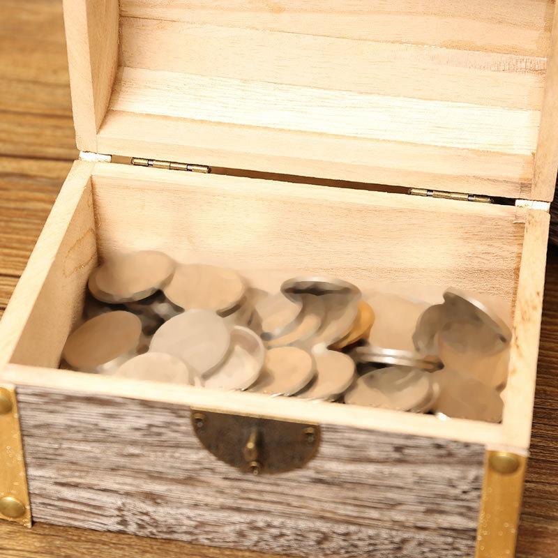 1X-Geldsperre-Holzkiste-Exquisite-Aufbewahrungsbox-Schatz-Schmuck-Vintage-mR4H7 Indexbild 5