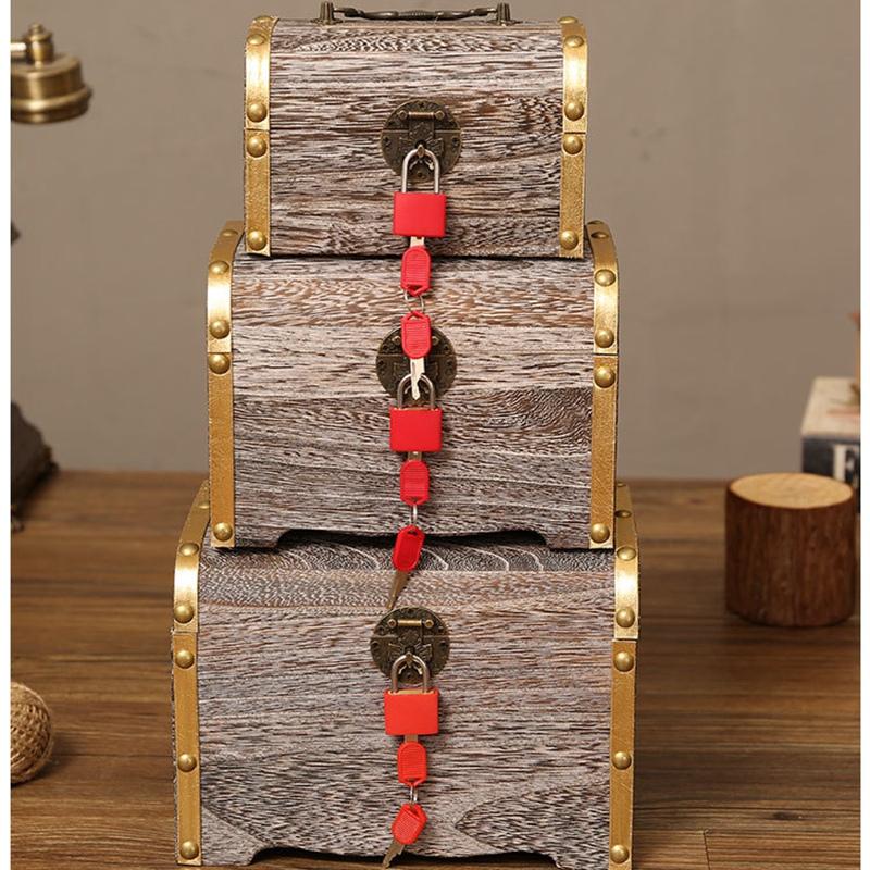 1X-Geldsperre-Holzkiste-Exquisite-Aufbewahrungsbox-Schatz-Schmuck-Vintage-mR4H7 Indexbild 8