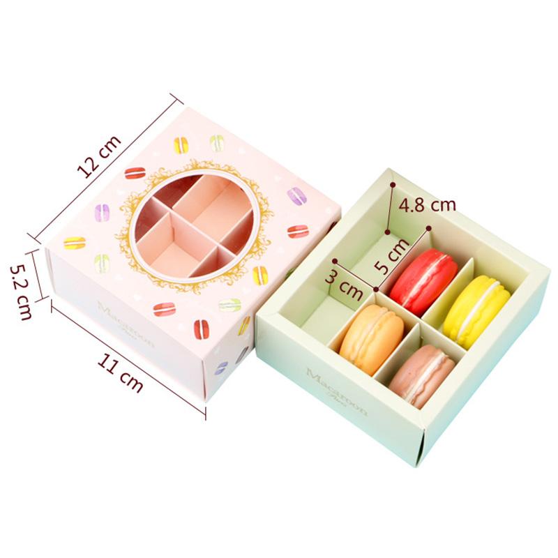 miniature 11 - 20 Pcs Macarons BoîTe avec FenêTre Transparente Dessert Macarons Pâtisserie K4J3