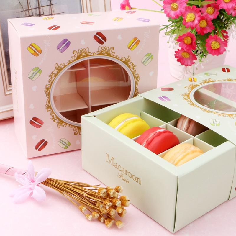 miniature 14 - 20 Pcs Macarons BoîTe avec FenêTre Transparente Dessert Macarons Pâtisserie K4J3