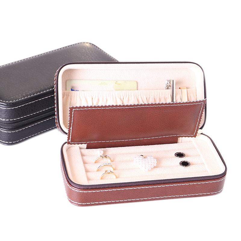 Tragbare-Schmuck-Verpackung-Aufbewahrungsbox-Halskette-Armband-Ohrring-Uhr-T-rvg Indexbild 10