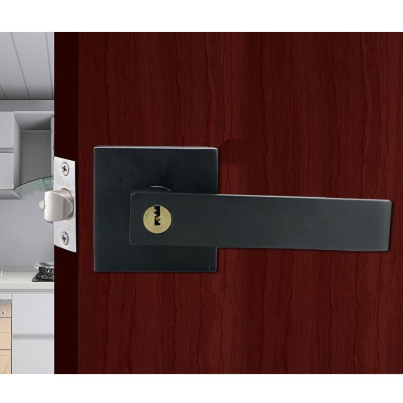 Door Handle Door Handle Lock Square Channel Privacy  Interior Bedroom  P6L7