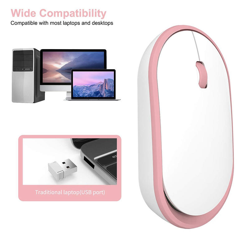 Ultra-Thin-Rechargeable-Wireless-Mouse-Girl-Cute-Mute-USB-Mouse-with-Low-Noise thumbnail 5
