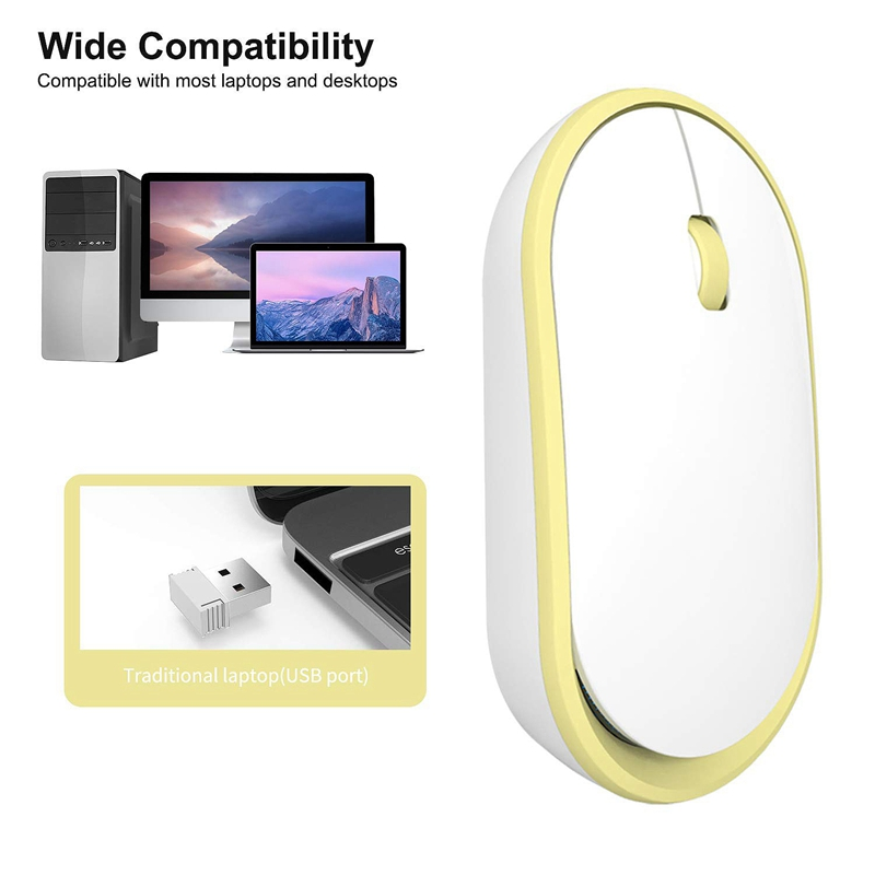 Ultra-Thin-Rechargeable-Wireless-Mouse-Girl-Cute-Mute-USB-Mouse-with-Low-Noise thumbnail 20