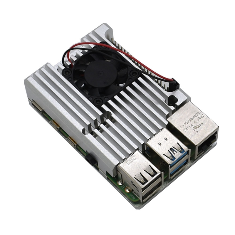 for-Raspberry-Pi-4-Aluminum-Alloy-Case-CNC-Protective-Cover-Enclosure-with-I8G6 thumbnail 28