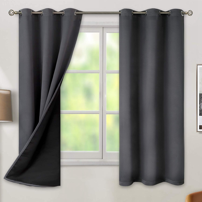 Tende Oscuranti Per Camere Da Letto Tende Termiche In Tessuto Oscurante Pe Z3y1 Ebay
