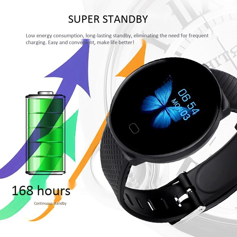 Reloj-Inteligente-D19-Frecuencia-CardiAca-PresioN-Arterial-Salud-Reloj-Smar-I4R1 miniatura 14
