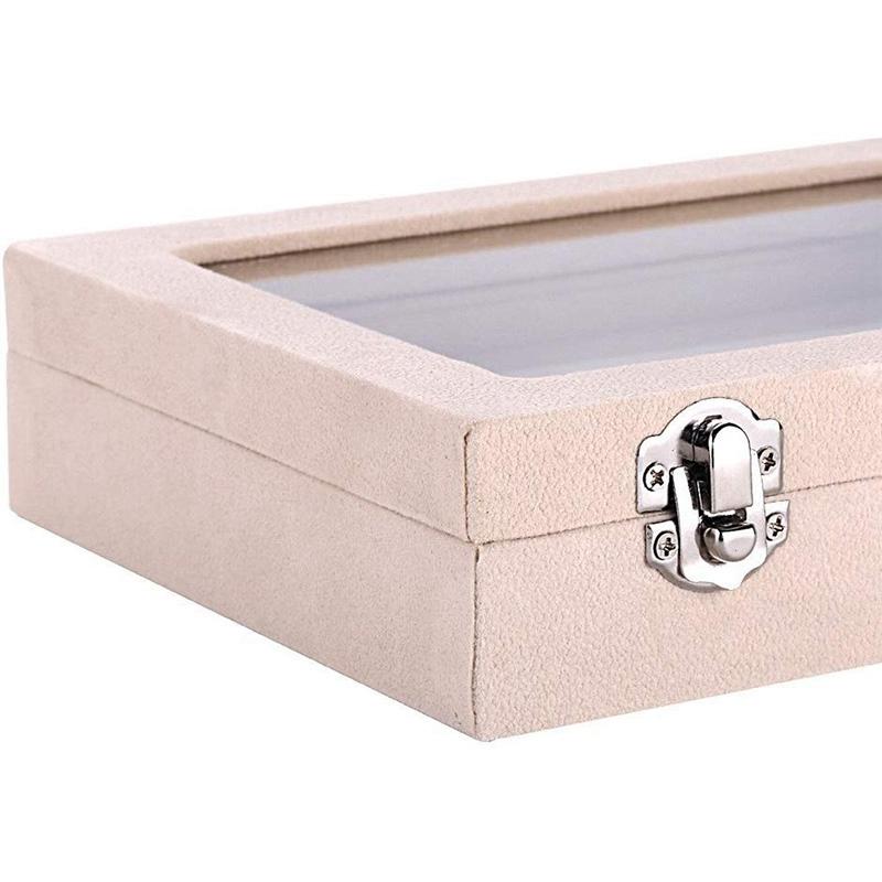 7-Slot-Velvet-Schmuck-Ring-Display-Rack-Ohrring-Aufbewahrungsbox-Schmuck-Sa-Z1O1 Indexbild 7