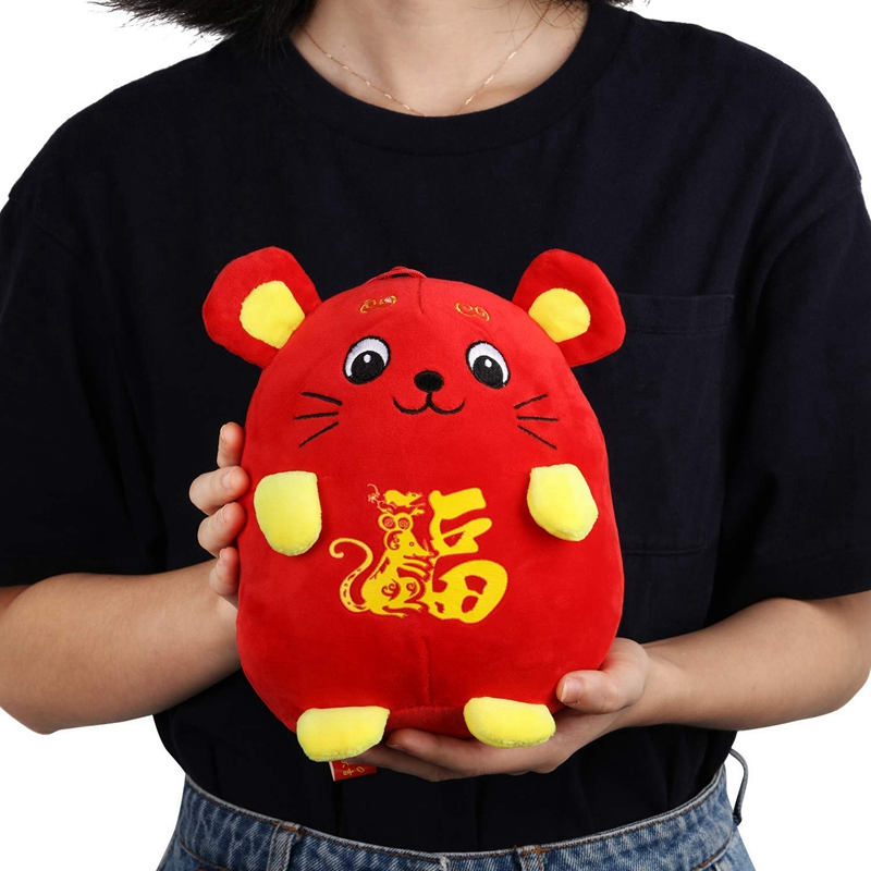 4X(Chinese New Year Red Rat Ornament Decorations Year of ...