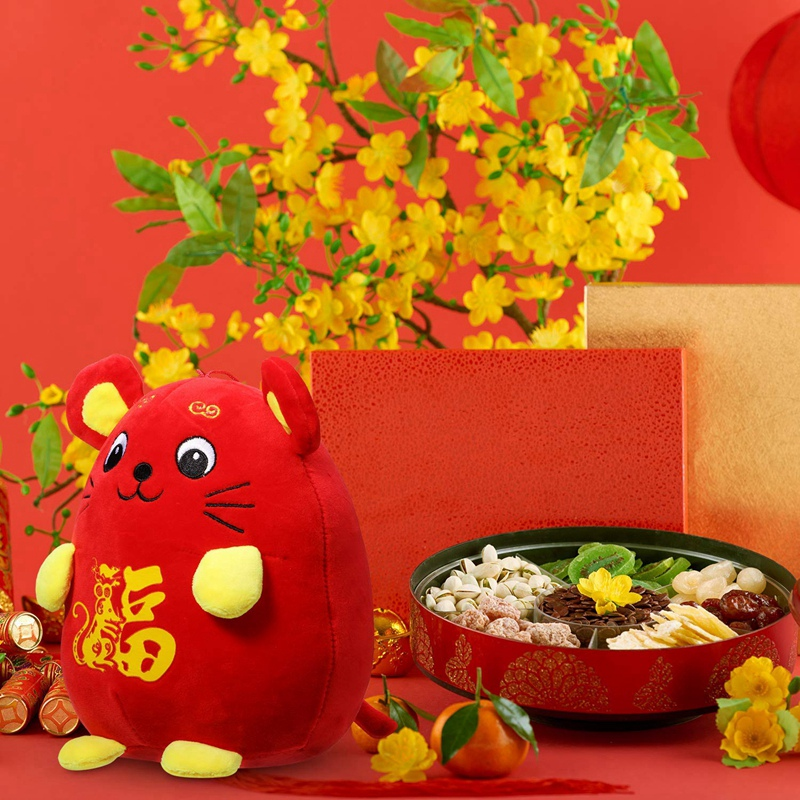 Chinese New Year Red Rat Ornament Decorations Year of the ...