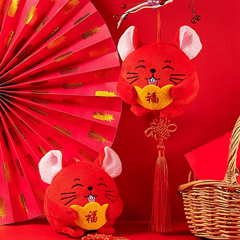 4X(New Year Rat Ornament Decorations Chinese New Year of ...