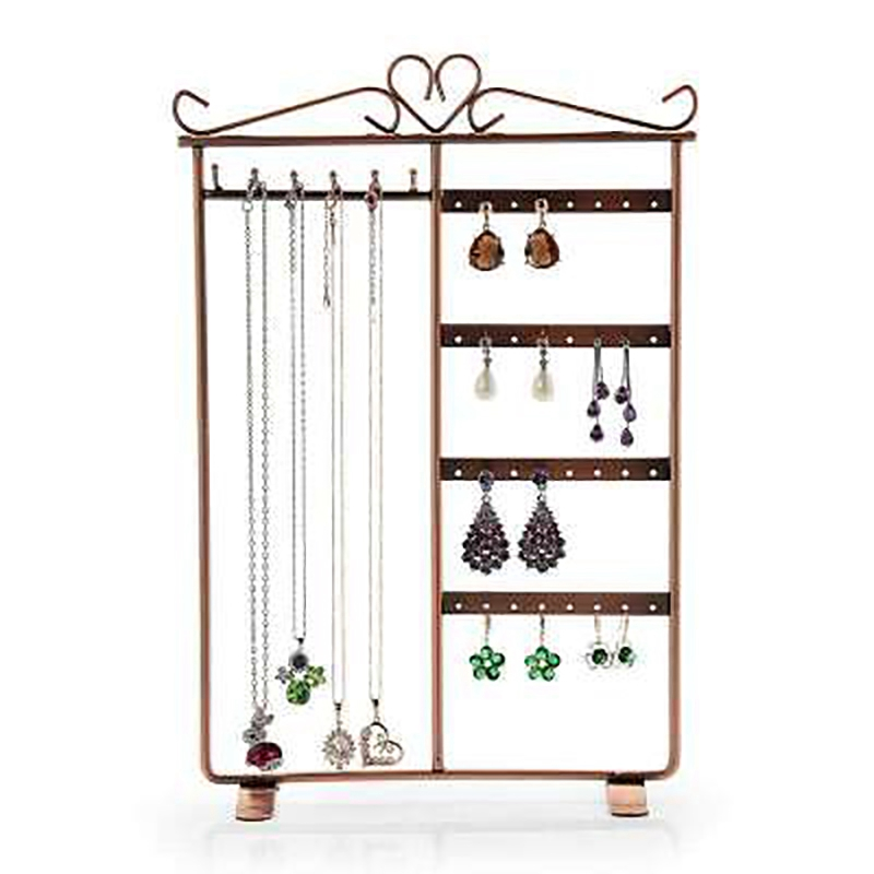 Indexbild 14 - 32-Loch 6-Haken Metall Schmuck Rack Halskette Ohrring Display Rack 4-Lagen  Z3K9