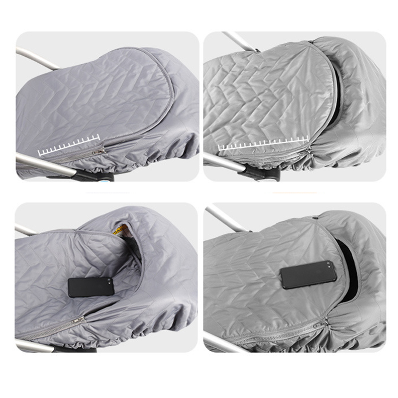 thumbnail 10 - 1X(Newborn Baby Basket Car Seat Cover Infant Carrier Winter Cold Weather Re M1O3