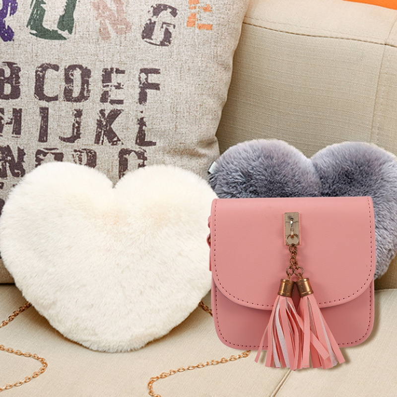 Fashion-Small-Chains-Bag-Women-Candy-Color-Tassel-Messenger-Bags-Female-Han-B2T5 thumbnail 6