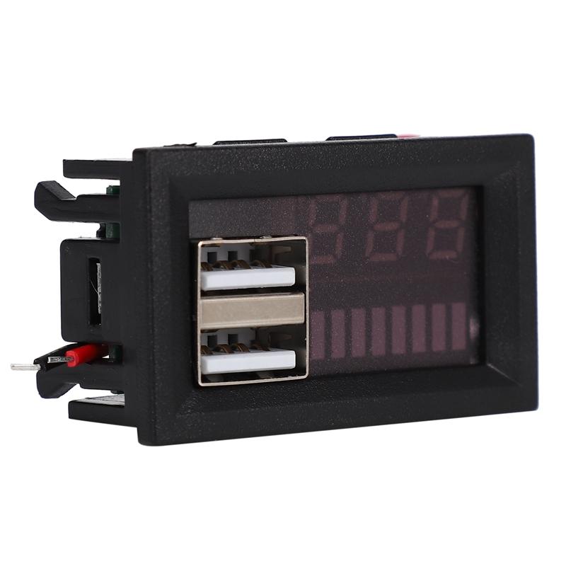 1X-Led-Rojo-Pantalla-Digital-Voltimetro-Mini-Medidor-de-Voltaje-Volt-Tester-MIJ miniatura 3