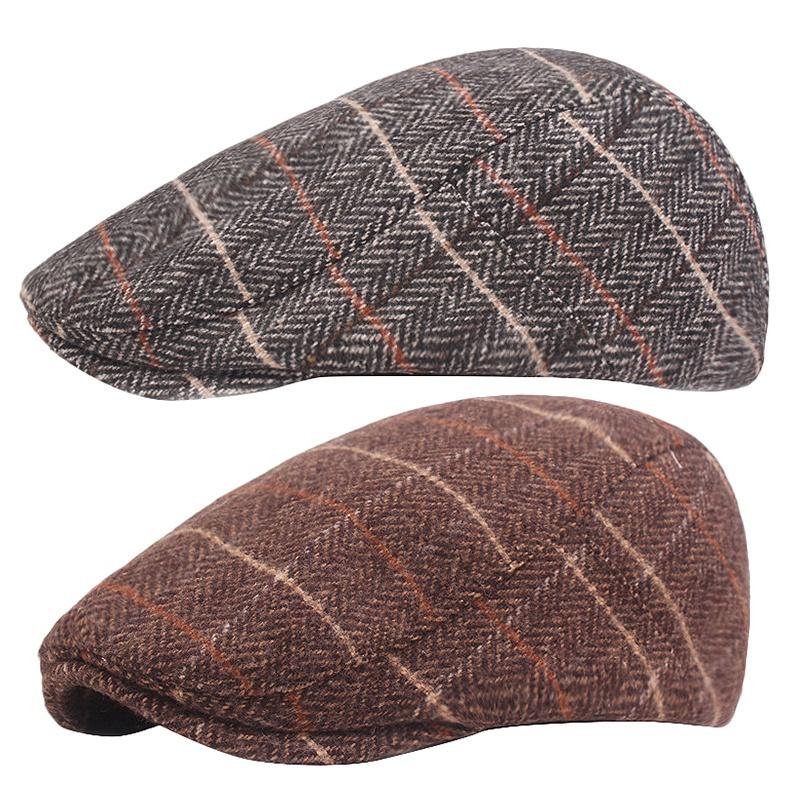miniature 9 - 1X(Automne Hiver Hommes Chapeau Chapeaux BéRets Casquette de Style Occident E4P5