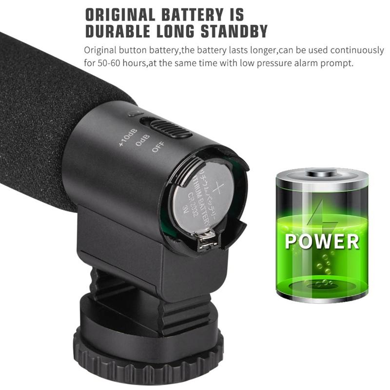 Micrófono De Grabación Condensador MIC-03 3.5mm para cámara DSLR DV Canon Nikon