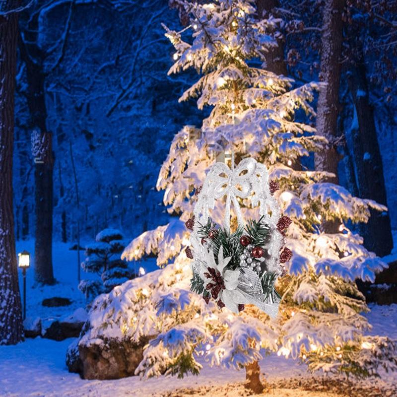 White-Christmas-Home-Door-Window-Ornaments-Christmas-Decoration-Xmas-Tree-H-T6A7 thumbnail 5