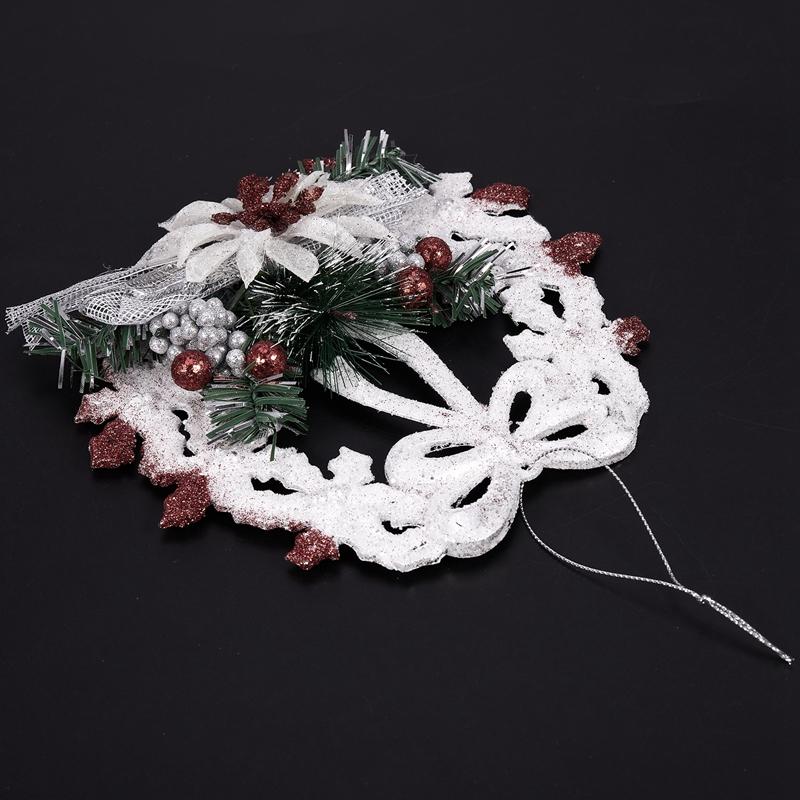 White-Christmas-Home-Door-Window-Ornaments-Christmas-Decoration-Xmas-Tree-H-T6A7 thumbnail 7