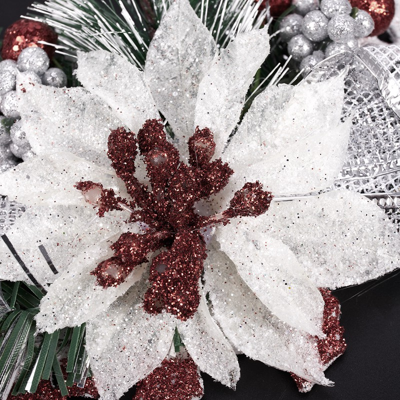 White-Christmas-Home-Door-Window-Ornaments-Christmas-Decoration-Xmas-Tree-H-T6A7 thumbnail 8