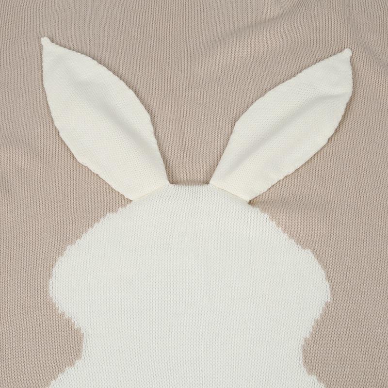 thumbnail 6 - Baby Blankets Newborn Cute Big Rabbit Ear Blanket Soft Warm Knitted Swaddle Z9Z4
