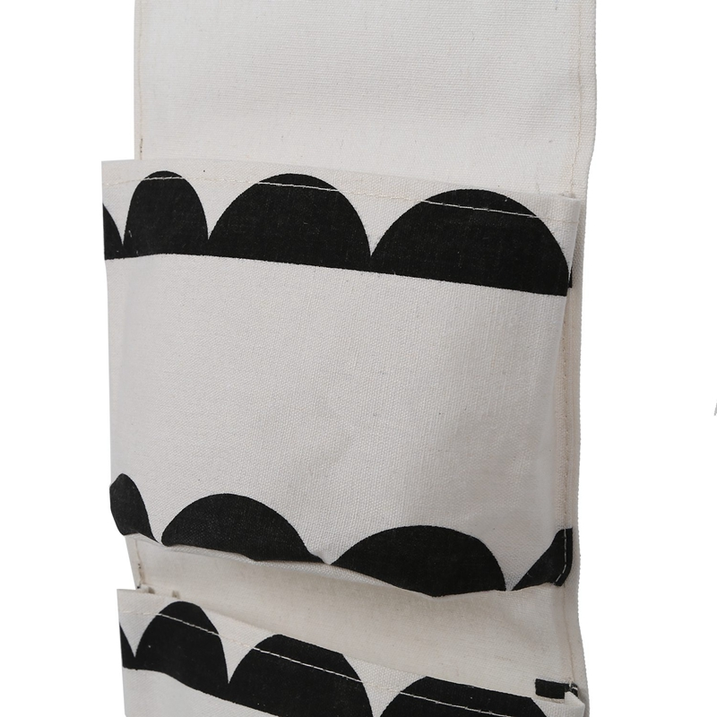 miniatura 7 - Sacchetto di Immagazzinaggio Appeso Modello Bianco Nero Lino di Cotone Dell S7D1