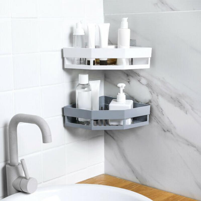 2-Pcs-Salle-de-Bains-ETageRes-D-039-Angle-Shampooing-Titulaire-Cuisine-Rack-de-B3J2 miniature 11