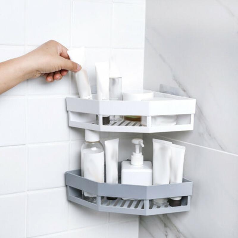 2-Pcs-Salle-de-Bains-ETageRes-D-039-Angle-Shampooing-Titulaire-Cuisine-Rack-de-B3J2 miniature 12
