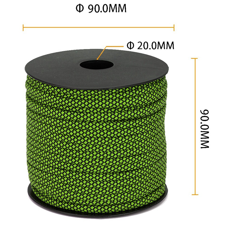 thumbnail 3 - Moocy-Camping-Paracord-4mm-50-Meters-7-Strands-Umbrella-Rope-for-Outdoor-Cl-H4A6