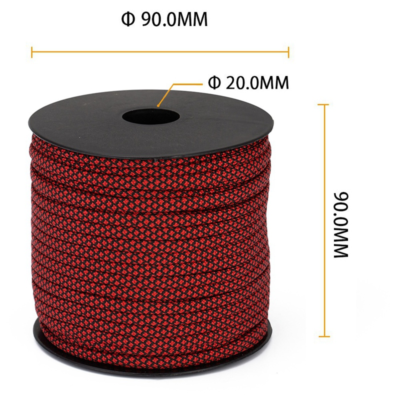 thumbnail 23 - Moocy-Camping-Paracord-4mm-50-Meters-7-Strands-Umbrella-Rope-for-Outdoor-Cl-R1O5
