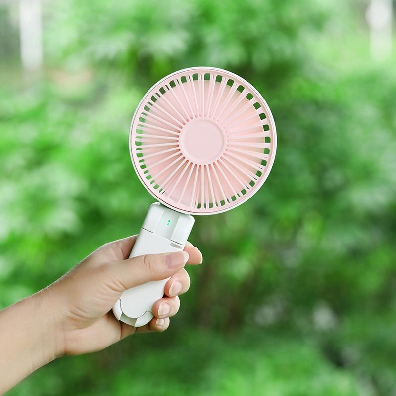 Parapluie-Soleil-Parapluie-Petit-Ventilateur-Portatif-Pliant-Bureau-USB-Cha-R9Y5 miniature 4