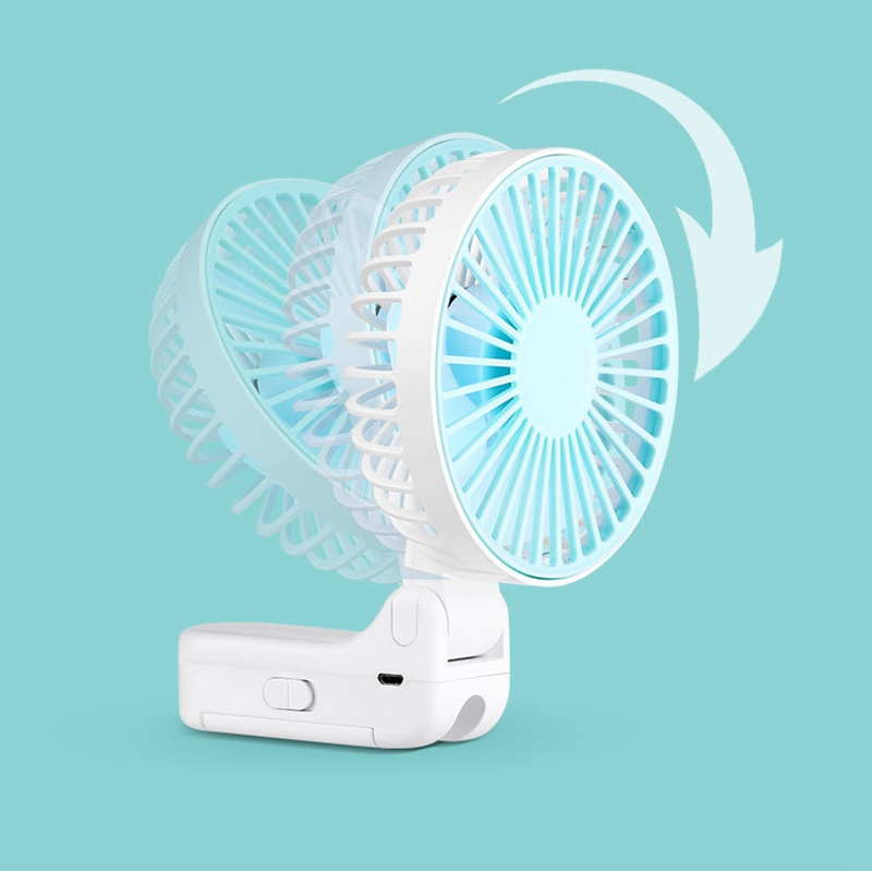 Parapluie-Soleil-Parapluie-Petit-Ventilateur-Portatif-Pliant-Bureau-USB-Cha-R9Y5 miniature 17