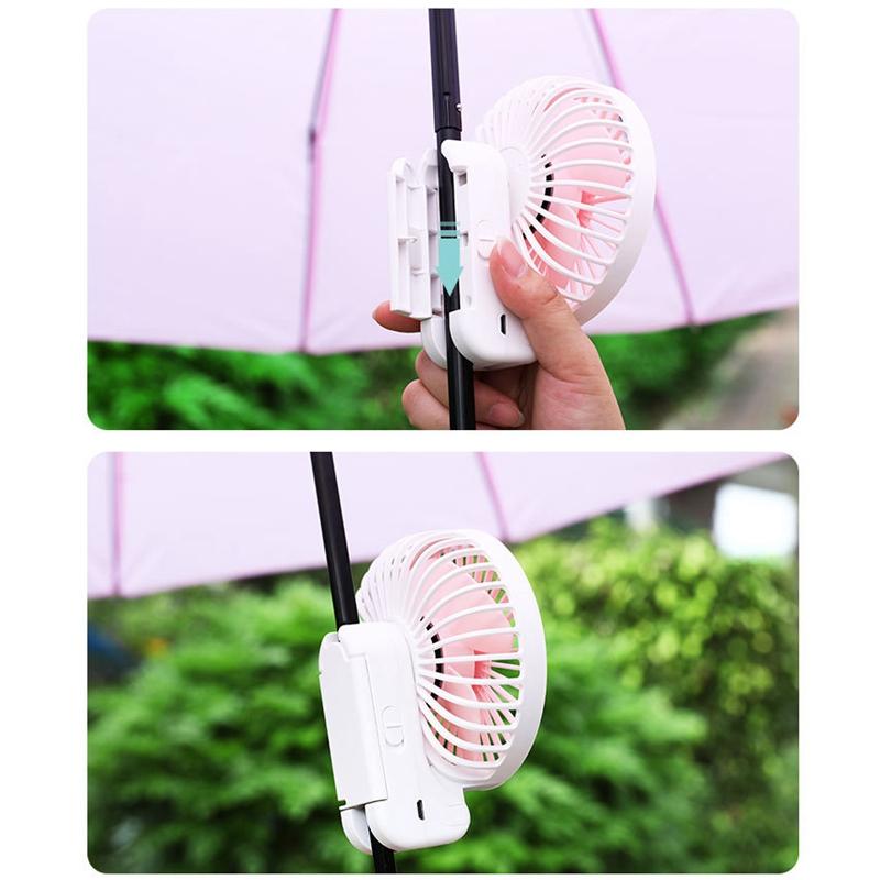 Parapluie-Soleil-Parapluie-Petit-Ventilateur-Portatif-Pliant-Bureau-USB-Cha-R9Y5 miniature 20