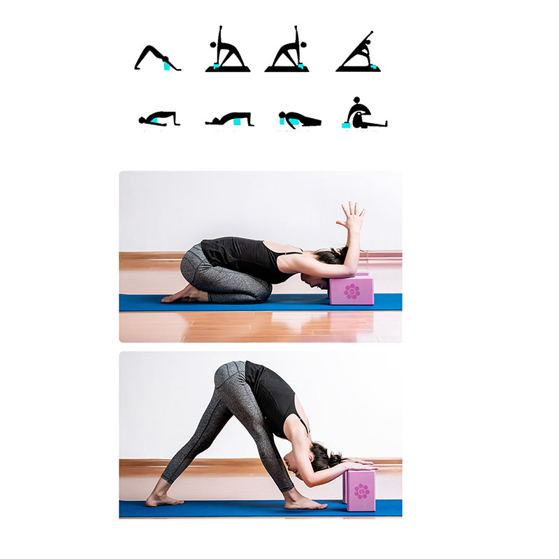 Silverdee Eva Yoga Block Ziegel Pilates Sportgymnastik Fitnessstudio Eva Body Shaping Training /Übung /Übung Fitnesszubeh/ör