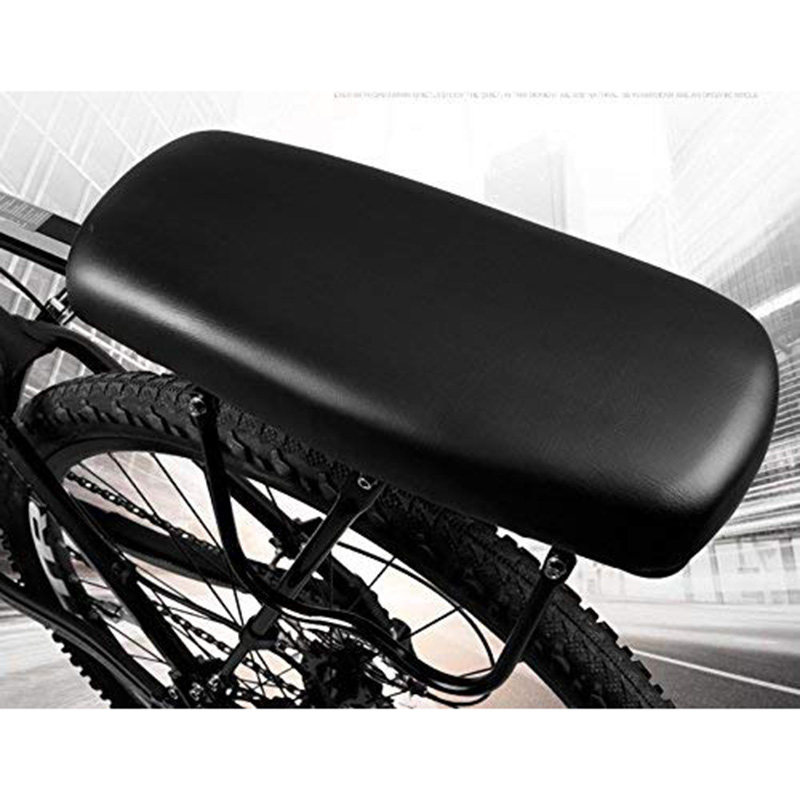 Waterproof Bicycle Back Seat Leather Soft Cover Bike Cushion For Kids Saddle AU