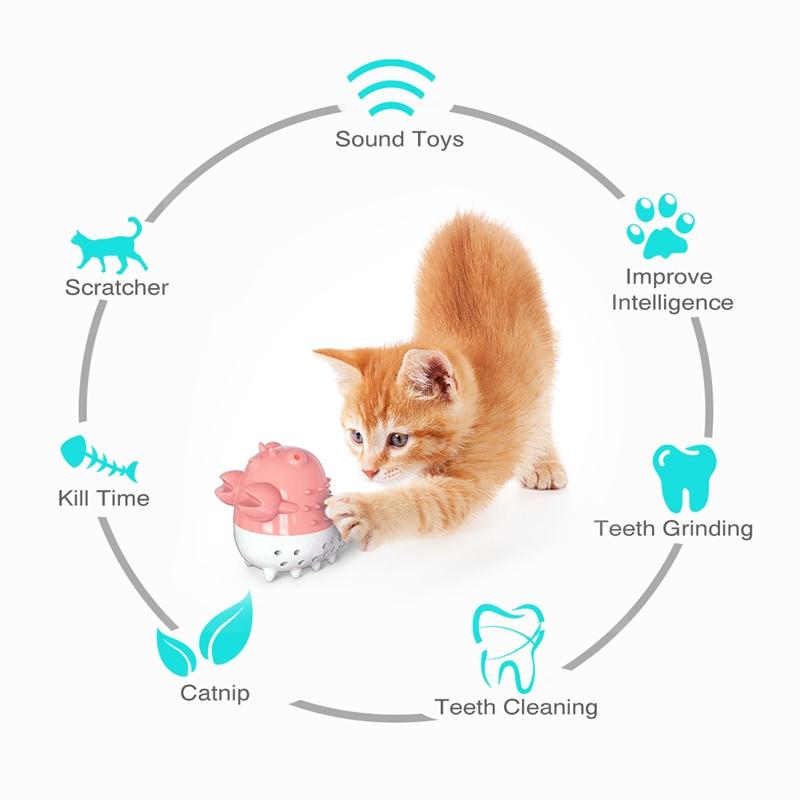 Indexbild 4 - KatzenzahnbüRste Katzenminze Spielzeug Zahnpflege NachfüLlbare Katzenminze inze