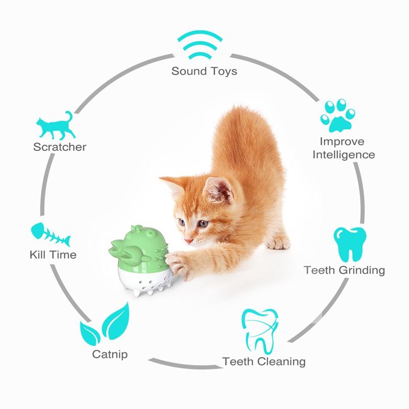 Indexbild 13 - KatzenzahnbüRste Katzenminze Spielzeug Zahnpflege NachfüLlbare Katzenminze inze