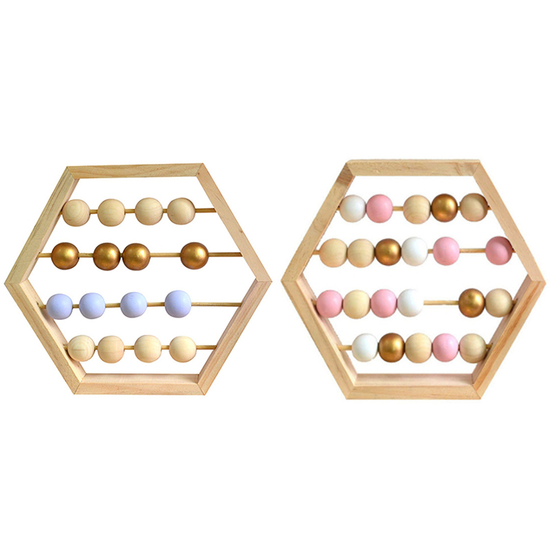 Nordic Natural Wooden Abacus with Beads Craft Baby Early ...