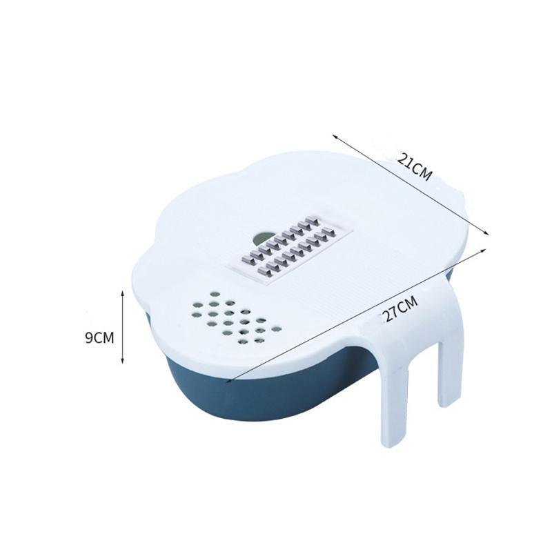 Trancheuse-Manuelle-Rotative-Multi-Coupe-LeGumes-avec-Panier-de-Vidange-Cui-R5C6 miniature 3