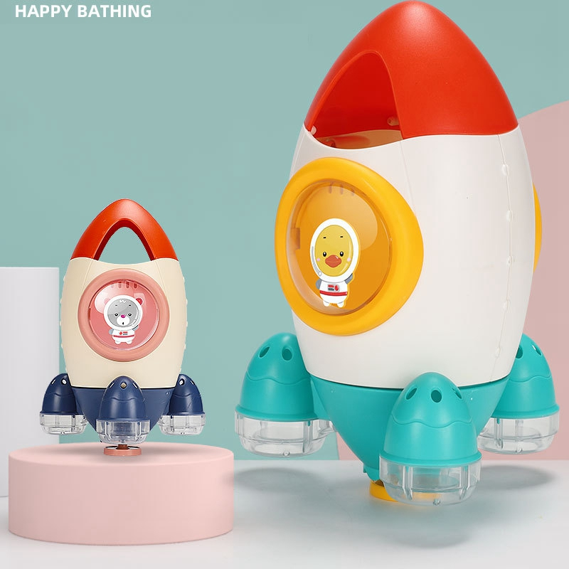 Children-039-s-Bathroom-Water-Spray-Rocket-Toy-Fountain-Rotating-Water-Spray-To-X3J3 thumbnail 4