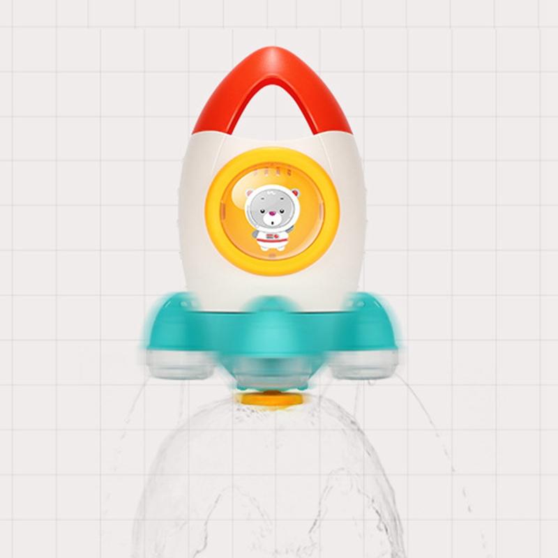 Children-039-s-Bathroom-Water-Spray-Rocket-Toy-Fountain-Rotating-Water-Spray-To-X3J3 thumbnail 6